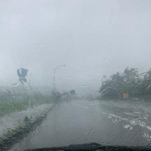 [桧原湖]大雨のちホワイトアウト。