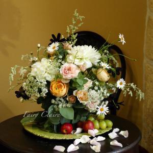 秋の花材で十人十色な作品作り♡
