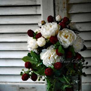 薔薇と実物