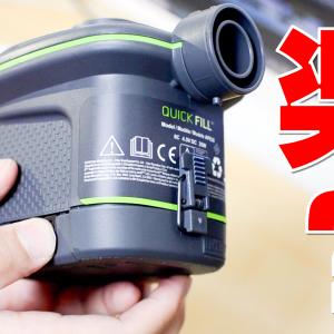 """INTEX空気入れ電池式ポンプ66638 """"QUICK FILL"""" を買ったので使い勝手を伝えたい"""