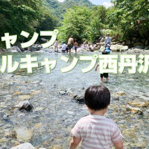 2021年キャンプ一回目はウェルキャンプ西丹沢キャンプ場で川遊び