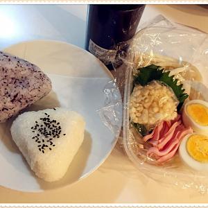 冷やしうどん弁当と長男、京都へ帰る。