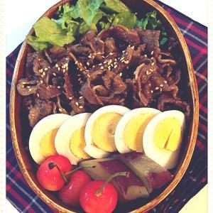 牛肉のしぐれ煮弁当と健康診断でした。