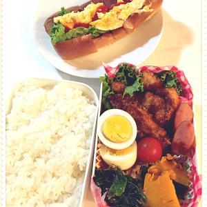 豚カツ弁当とたまには夕飯の写真と我が家のお弁当の工夫。