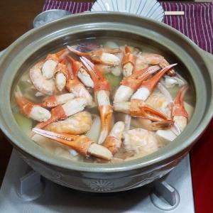 海鮮鍋で晩酌