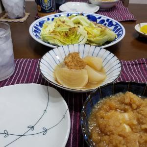 茶色い食卓で晩酌