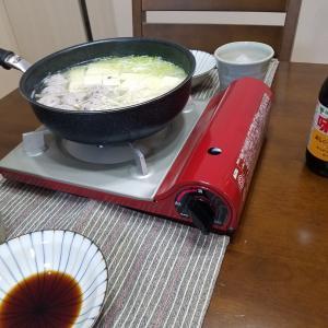 湯豆腐で晩酌