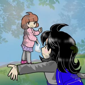 ばぁば、孫ちゃんと公園で遊ぶ