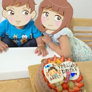 孫一歳の誕生日