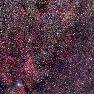 三日月星雲NGC6888(クレセント星雲)付近