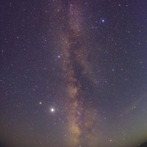 ペルセウス座流星群に垂直天の川