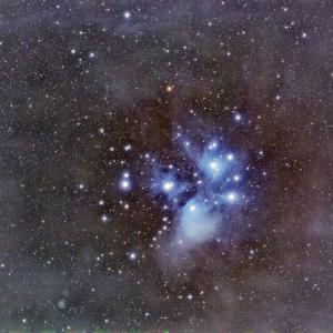 M45プレアデス星団 久し振りの星見です