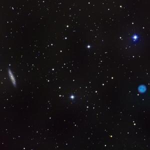 M97ふくろう星雲とM108銀河
