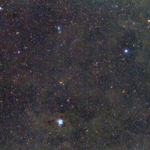 アイリス星雲にケフェウス座のもやもや