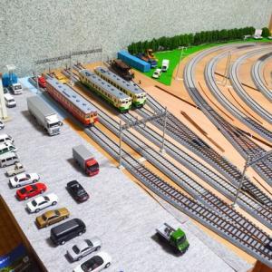 線路際の街並み 16番ゲージ鉄道模型