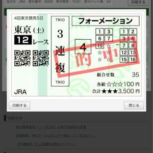菊花賞の資金ゲット