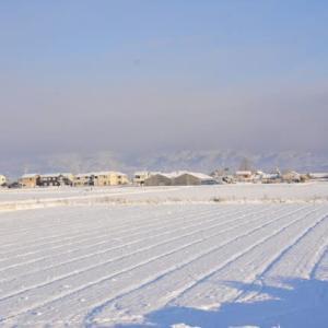 1月10日は成人式、先日の雪が固まり道路は凍結