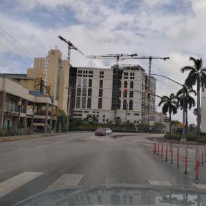 3/31現在のインペリアルホテル建設状況:外観のみ