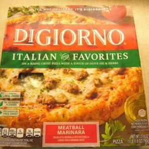 アメリカの冷凍ピザはおいしい!暫定1位の座が揺らぐ~「DIGIORNO」の イタリアンフェィバリット ミートボールマリナラ