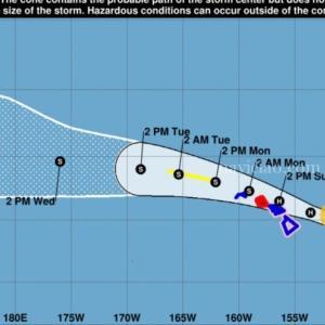 ハワイに向かっているハリケーン「ダグラス」~ハワイへの影響は?