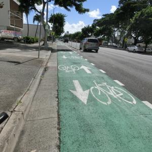 ハワイを自転車で走ろう!~新しく設置されるバイクレーン