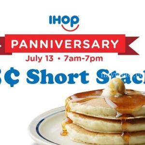 パンケーキで人気の「IHOP」が63周年~7/13でにオープン当初の価格58セントでパンケーキを提供します