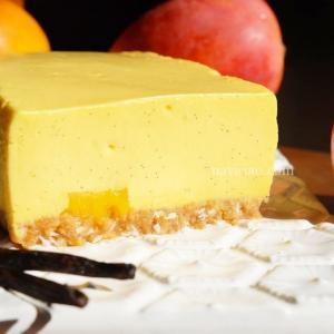 【期間限定のマンゴーを使ったレアチーズケーキ】「アロハステイトベイクショップ (Aloha state bake shop)」