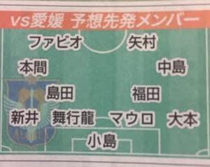 もっちゃん復帰?(今日は愛媛戦!)