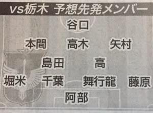 栃木戦!~黒子&泥臭いボランチコンビに期待!