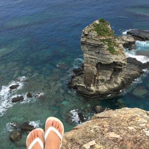 与那国は崖が多く、スリルのある絶景を楽しむこともできます。ついに行ってきました!日本の最西端、与那国島へ。