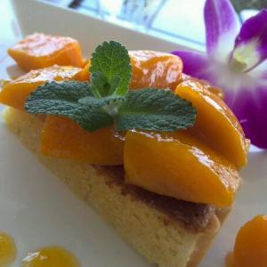 うみそらカフェでマンゴータルト♪マンゴーがゴロゴロ入ってますねん(^-^)お気に入り!!