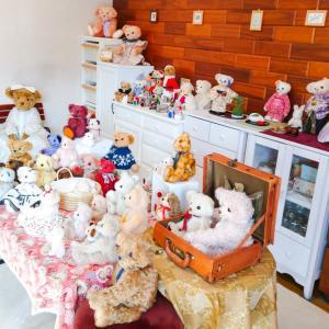 今年の冬のクマ部屋は地味なクリスマスに(´Д`   )