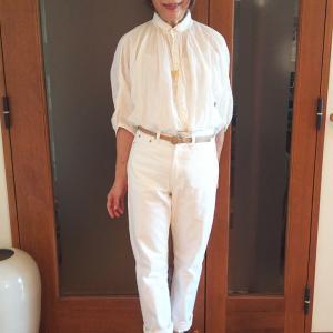 夏の定番ホワイトデニム|腰高に履く大人コーデできちんと感