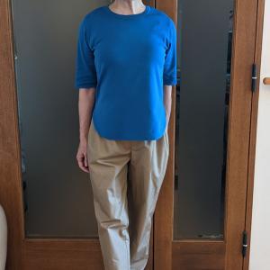 オールシーズン着られる1万円以内の5分袖ニットソー|10年は長持ちする上質素材と程よいサイズ感