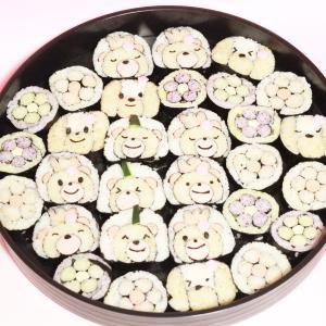 2月12日 子供食堂 くまさんのおひなさま巻き寿司