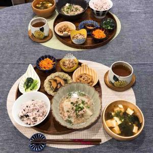豆皿を並べて常備菜で晩ごはん