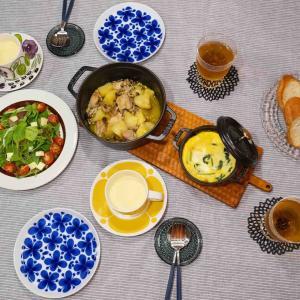 ストウブと北欧食器でおしゃれ食卓。6月の記録。