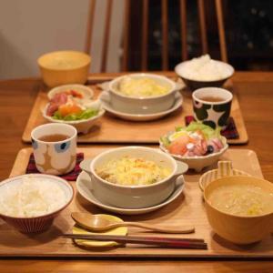 ダイソーのグラタン皿でチキンポテトグラタンの晩ごはん