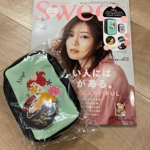 【雑誌付録】ディズニープリンセスのポーチがかわいい♡sweet 8月号