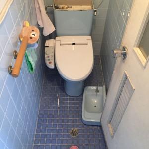 トイレ水漏れ 大阪府枚方市 -トイレ交換工事・TOTO-