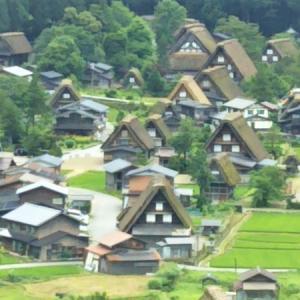 世界遺産の村へ