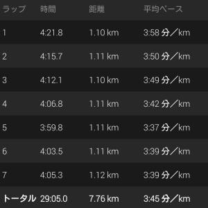 10/17(木) 駅伝夜練 BU走
