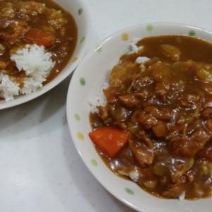 2日目カレーで楽チン晩ごはん!!