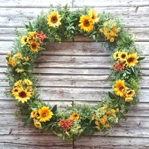 【ニューボーンフォトリース】ボタニカルリースに取り外し可能なお花パーツ、枝リースもご紹介します!