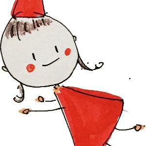 【動画公開】カラー筆ペンで描く花束女の子