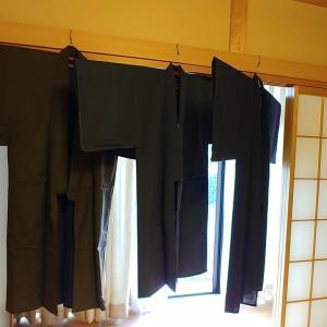 練習用の男性用の着物3枚