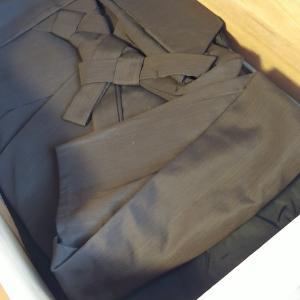 レッスン用の黒留袖と袴もお片付け