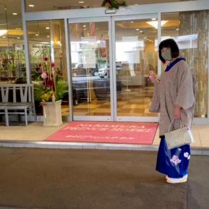 お正月に付け下げを着て中村プリンスホテルでランチ(動画有り)