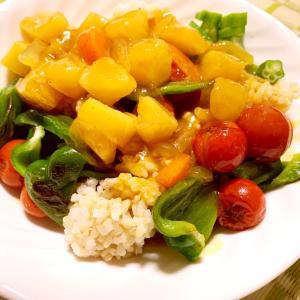 家庭菜園の夏野菜で作ったカレー!