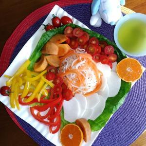 Miho's 和ごはん 初冬の彩り野菜果物もり